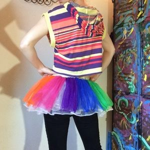 🎃 Rainbow Tulle Costume Gay Pride Parade TuTu
